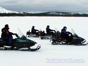 kolatravel snowmobile safaris kola peninsula villages